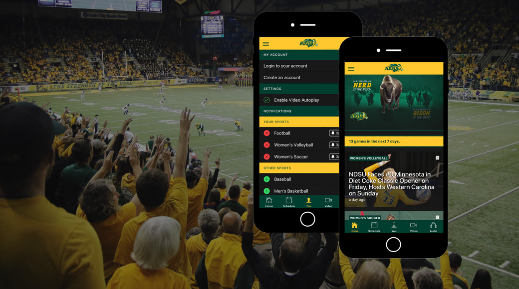 NDSU Athletics Mobile App Now Available for Apple and